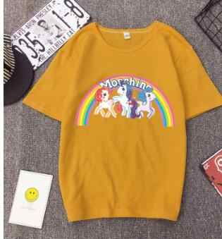 3c3365dd CPI Unicorn Shirt Rainbow Horse Funny T-shirt Women Short Sleeve 3d Print  Tshirt Summer