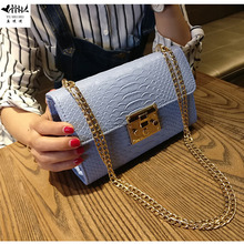 Alligator Leather Messenger Crossbody Bag Women Chain Bags High Quality Mini Small Flap Handbag Purse Fashion Lady Shoulder Bags