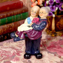 Q-glory Style Wedding Home Decor Accessories Souvenirs garden Figurines Garden House Ornaments Love Gifts Grandma and Grandpa(China)