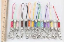 Lot 100pcs 15color multicolor DIY Mobile Cell Phone cord Strap Lariat Lanyard Lobster Clasp gifts