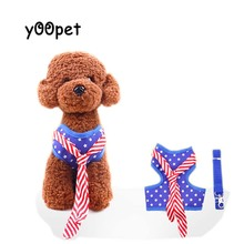 Pet Dog Cat Harnesses Lead Soft For Small Size Dogs Newborn Baby Dog Clothing costumes Dots Harness And Leash Tie Suit Set