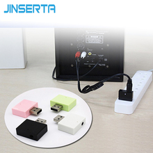 JINSERTA Bluetooth Receiver Adapter Stereo Music Wireless Speakers Audio Receptor USB Car 3.5mm RCA AUX For iPhone Smartphone(China)