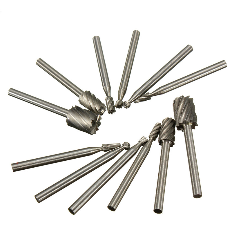 G New Arrival High Quality 12pcs/Set 1/8 Shank HSS Router Bit Rotary Burrs File Set Dremel Milling Drill Cutter T<br><br>Aliexpress