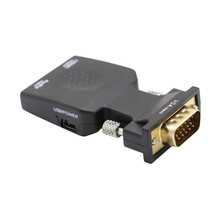 Hot! 1080P VGA Male to HDMI Female Converter Adapter Audio Port VGA Extension Cable Mar23