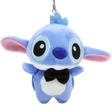 1pc 10cm Lover Kawaii LILO and Stitch Plush Stuffed TOY Phone Charm Strap  BAG Key Chain Pendant TOY Wedding Bouquet TOY