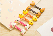 100pcs/lot Cute Bear Duck Cable Tie Cord Organizer Wire Wrap Headset Headphone Earphone Wrap Winder Cartoon Animal Cable Manager