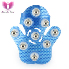 360 Degree Body Cellulite Massager Glove Cell Roller Ball Muscle Pain Relief Relax Massage Neck Leg Back Massage Wheel Corporal(China)