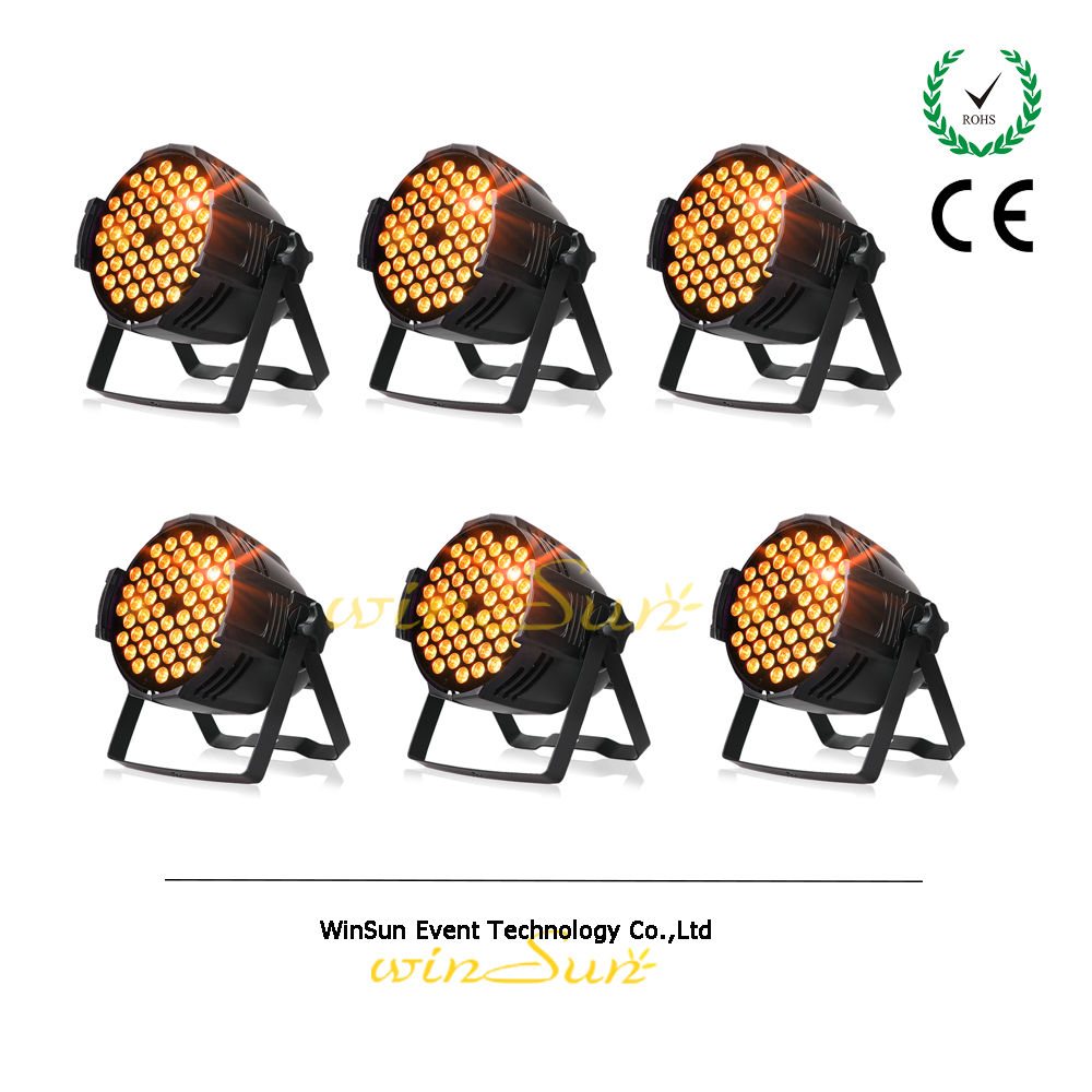 WS 6 Unit*LOT Stage Light 54x3W LED RGB 3in1 DMX Indoor Led Par Can Light Washer High Brightness(China)