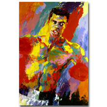 Boxing Legend Muhammad Ali Art Silk Fabric Poster Print 13x20 24x36inch Super Boxer Sports Pictures for Home Decor