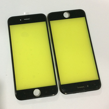 200Pcs/lot free DHL AAA Quality LCD Touch Screen Outer Front Glass Lens with Middle Frame Bezel Assembly for iPhone 6S Housing