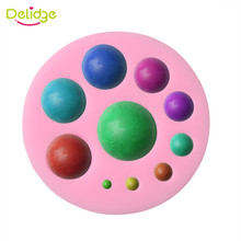 Delidge 1PC 3D Round Gem Shap Silicone Fondant Mold Soap Candle Sugar Craft Tools DIY Chocolate Bakeware Decorating Tools(China)