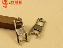 28*11.5MM Antique Bronze DIY handmade jewelry wholesale Vintage chair charm pendant beads mobile phone accessories, small charms