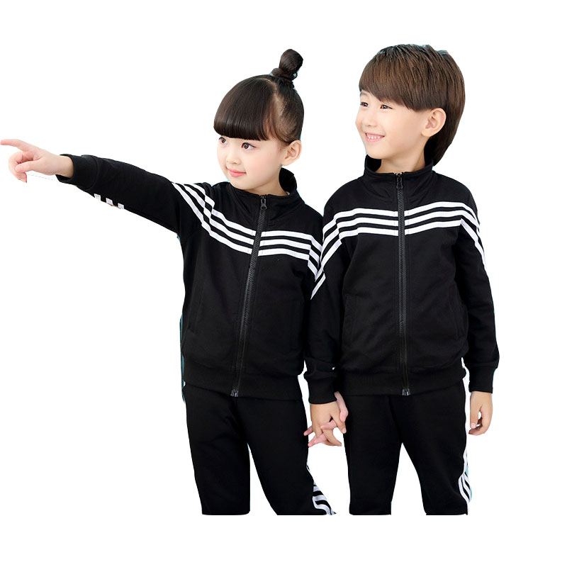 2017 spring autumn childrens school uniforms clothing sets Korean two sets of garden clothes Sports suits for kids 3 10 14 Age<br>