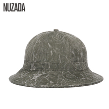 Brand NUZADA Panama Fisherman Hats Couple Men Women Bucket Do The Old Effect High Quality Cotton Spring Autumn Winter Hat Caps