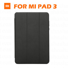 Original Xiaomi Mi Pad 3 Leather Smart Flip Cover Ultra Thin Tablet PC Holder For Xiaomi MI Pad 3 MiPad 3 Retail Box(China)