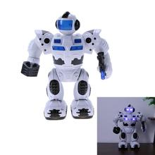 Electric Robot Toy Baby Kids Intelligent Electric Flashing Lighting Robot Model Children Educational Game Toys Birth Xmas Gift(China)