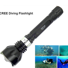 Diving 18650 LED flashlight Underwater led light CREE L2 U2 yellow Waterproof 18650 Flash light Lamp Torch free shipping
