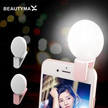 Universal LED Photograph light Selflife lamp Speedlite phone clip Selfie flash Photography Ring For iphone 6S Samsung xiaomi