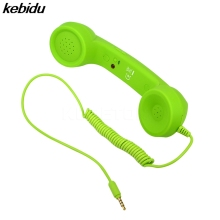 kebidu 2017 Hot Newest 3.5mm Retro phone handset specifically on the mobile phone Receiver mobile phone Headphones Microphone(China)
