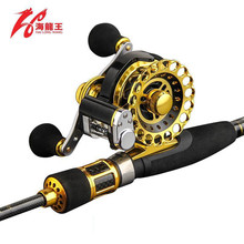 High Quality Titanium Rod Tip Raft Fly Fishing Rod Combo Saltwater Ultra Light Spinning Telescopic Fishing Rod Reel Set(China)