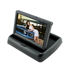 4.3 inch Foldable TFT LCD Monitor + Car Rear View System Backup Reverse Camera 628 X 586 pixels  Waterproof Packing Camera