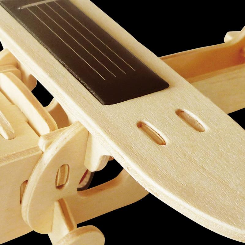 Robud 11 Kinds Solar Energy Powered Plane 3D Wooden Model Building Popular Creative Toys Hobbies Gift for Children,Teens P250 36