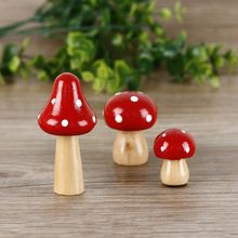 3 pcs/Set Wood Mushrooms Miniature Fairy Garden Home Decoration Craft Micro Landscape Decor DIY Gift Moving Forest(China)
