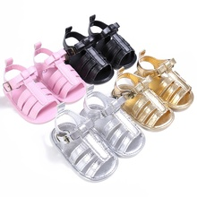 0-18M Baby Girls Boys Shoes Fashion Summer Breathable PU Hollow Out Anti-slip Flip Flop Newborn Shoes Sandal
