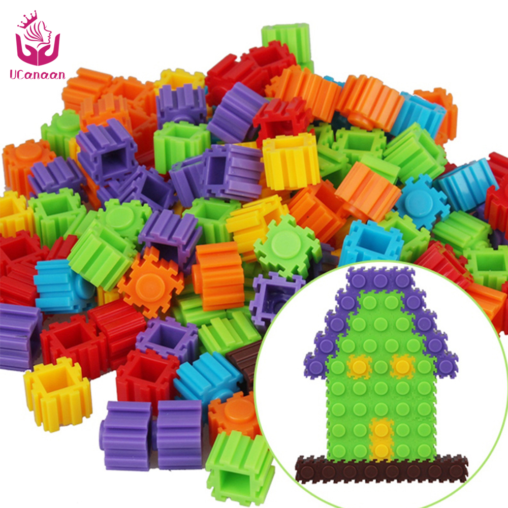 New Design UCanaan Bottled Safe non-toxic Children creative toys Kids building block building block assemblage toys<br><br>Aliexpress