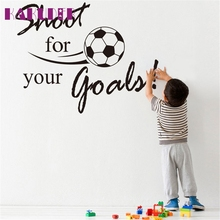 Kakuder Shoot For Your Goals Football Soccer Removable Decal Sports Wall Sticker Home Decor living room #50 2017 Gift Drop