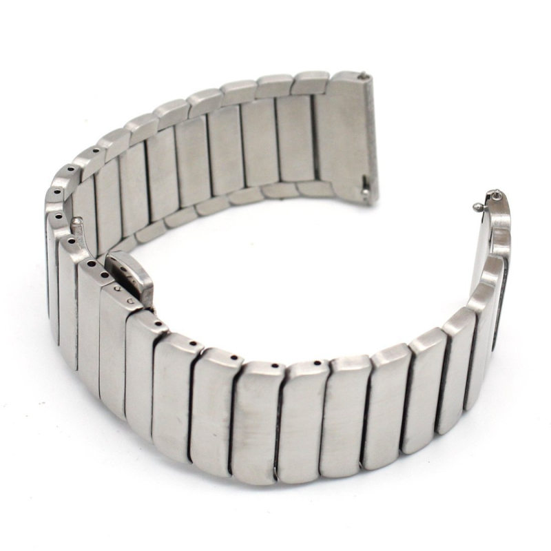 ot01 Women Stainless Stell Watch Strap Only For Longines With Deployment Button 20mm 22mm<br>