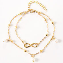 Bohemian Vintage Fashion Rhinestone Anklets For Women Link Chin Gold Silver Color Boot Chain Bracelet Foot Jewelry(China)