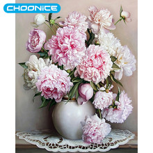Diamond Embroidery Flowers Blooming Flowers Diamond Mosaic Vases And Roses Pictures By Numbers Pictures With Beads Picture