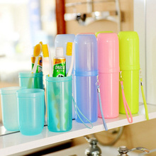 Portable utility toothbrush holder toothpaste tower plastic tooth case cover cup bath travel outdoor personal clean tool(China)