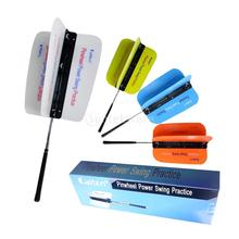 Durable Warm-up Golf Swing Power Fan Trainers Golf Trainning Aids Practice Club Grip Guide Large Small Random Color(China)