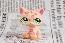 New pet Genuine Original LPS #1869 Orange Pink Spots Spotted Cat Collection figure Toys(China)