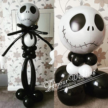 50pcs jack skellington balloon 18inch orbz nightmare before christmas halloween skeleton skull party decoration supplies photo