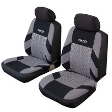 Universal Car Seat Covers 4 PCS with Headrest Gray/Blue/Red with Tire Track Style Protector Interior Decoration Seat Support