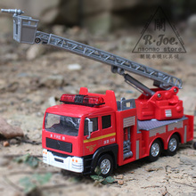 eti 1:32 metal car models kids toys Ladder car ambulance 119 Fire truck Children like the gift music back to function light(China)