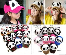 KIDS or WOMEN sprots baseball cap,children panda hats,length or short plush cap,can Mix ,50pcs/bag.EMS/DHL free shipping