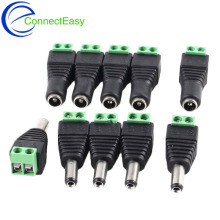 10Pairs (10pcs Male+10pcs Female) 5.5mm x 2.1mm DC Male Female Power Jack CCTV Adapter Connector