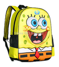Cute 3D Cartoon SpongeBob Backpack Kids Children School Bags Schoolbag Rucksacks Elementary School Backpacks for Boys Girls
