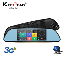"KEELEAD Car DVR 3G Mirror 6.86"" Dash Cam Full HD 1080P Video Recorder Camera Android 5.0 GPS Rearview Mirror Registrar(China)"