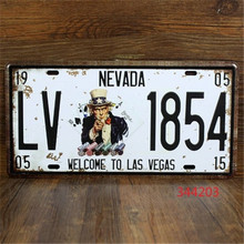 Vintage Car Plates  LV-1854 Wall Art Craft Vintage Iron Metal Painting for Bar  Neon Beer Signs Wand Decoratie Vintage Lightbox