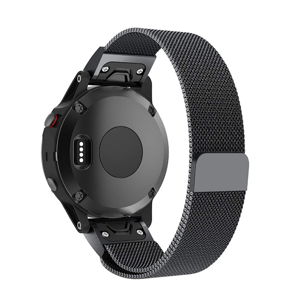 Milanese Loop Stainless Steel Mesh Replacement Bracelet Strap for Garmin Fenix 5x Fenix 3 Smart Watch Small Large 9.26 (8)
