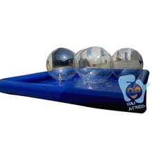 6m by 8m Inflatable Walking Ball with 4pcs Water Walking Ball 1pc Air Pump(China)