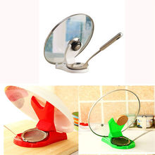 1X New Spoon Pot Lid Shelf Cooking Storage Kitchen Decor Tool Stand Holder 3 Colors(China)