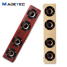 Madetec 4 HiFi Wooden Bluetooth Speaker Bass Stereo Surppot TF Card AUX Subwoofer Speaker For TV Home Theatre Sound Bar VS119(China)