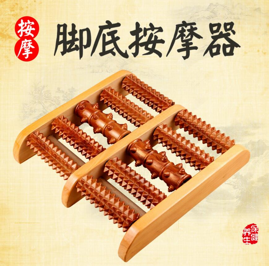 High Qulity Foot Massager Traditional Wooden Roller Massager Without The Need Electricity Massage Relaxation Health Care Product<br><br>Aliexpress