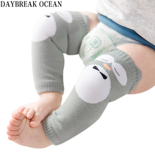 Buy 0-2Y Cartoon Animal Toddler Kids Knee Protector Soft Cotton Crawling Boy Girl Baby Kneepad Leg Warmers Well Knee Pads Child for $14.24 in AliExpress store